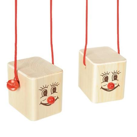 echasses cube, jouet en bois pour petit, motricité et coordination de nemmer allemagne