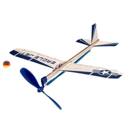 Avion planeur à moteur élastique