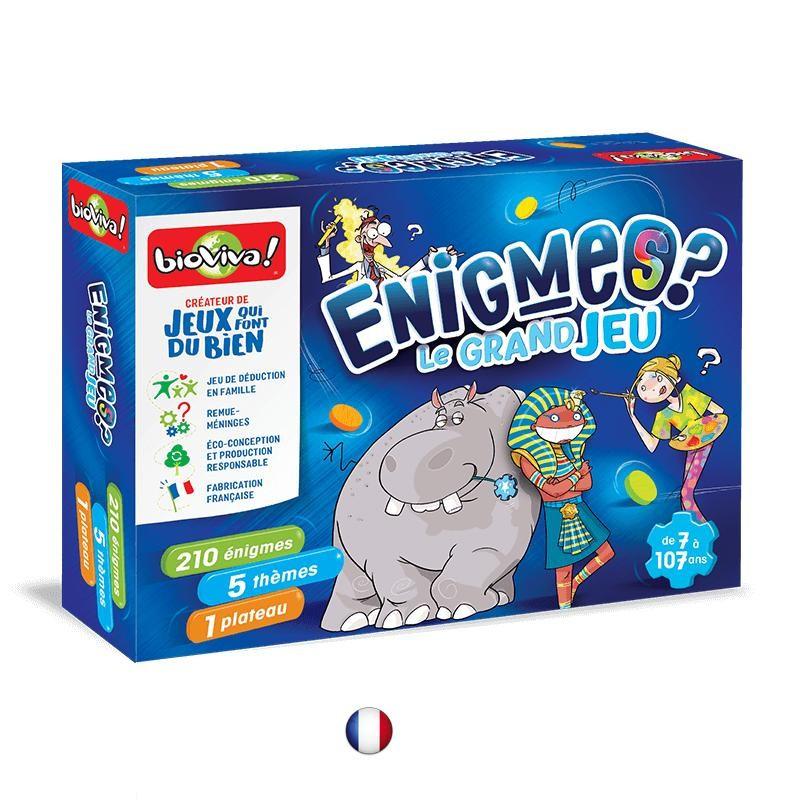 Grand jeu des énigmes, jeu de sociéte evolutif, educatif et convivial de Bioviva