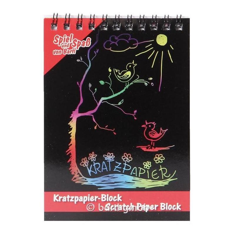 Bloc de papier noir, carte à gratter arc en ciel, jeu pour enfant