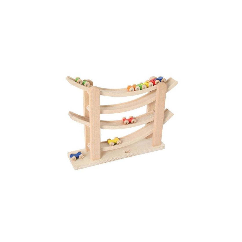 Circuit toboggan de train, descnte de voiture jouet en bois rollercoaster