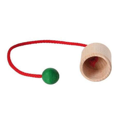 Bilboquet de poche, jouet en bois ecologique steiner waldorf
