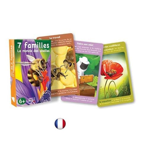 Jeu 7 familles, monde des abeilles, jeu ecologique et ethique francais de betula