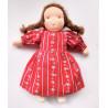 Poupée waldorf brune, Anne, jouet ecologique et ethique de ambrosius dolls