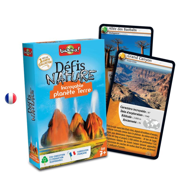 Défis nature incroyable planete terre, jeu de cartes bioviva