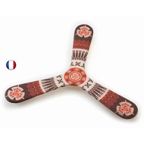 Boomerang tripale Fidji en bois, wallaby boomerang fabrication française