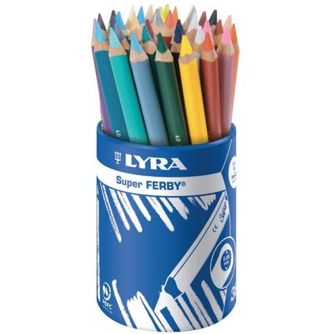 36 crayons de couleur Superferby de lyra, triangulaires mine large solide et aux couleurs lumineuses
