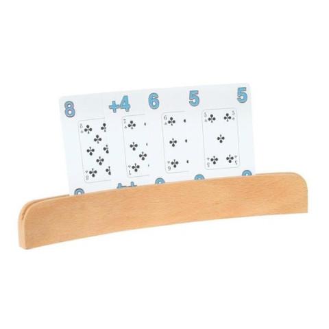 Porte carte, support photo en bois huilé waldorf steiner