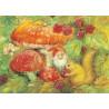 Carte champignon et nain, saison d'automne de M Zeyl mercurius pour table de saison waldorf steiner