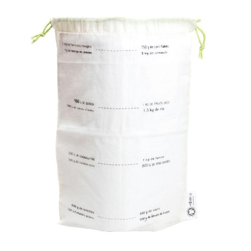 sacs à vrac reutilisables gradués coton Bio, lot de 5, taille M, ah table,  Ecodis