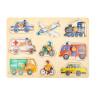 Puzzle à encastrer vehicules et voiture, jouet d'eveil en bois bébé écologique de legler