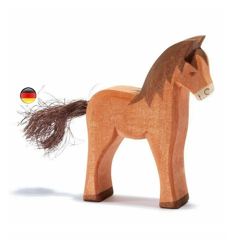 cheval, figurine jouet en bois, steiner waldorf ostheimer brin d'ours