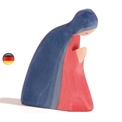 Marie, figurine santon de Noël pour la crèche,  jouet en bois steiner waldorf de Ostheimer