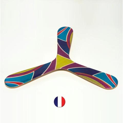 Boomerang tripale ambidextre et  gaucher fengshui en bois, pour débutants de wallaby strasbourg