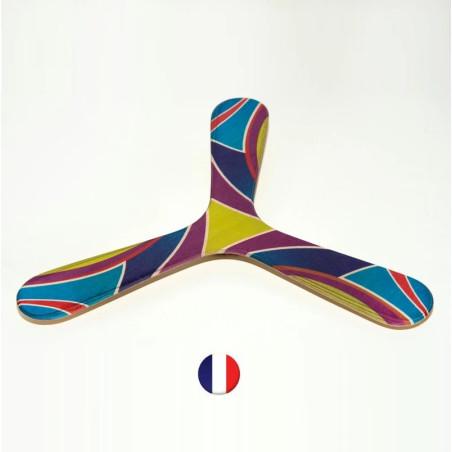 Boomerang tripale ambidextre, fengshui en bois