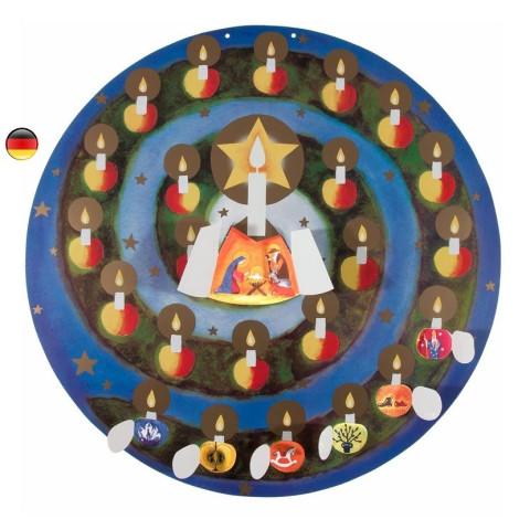 Calendrier de l'avent circulaire : jardin des pommes, reutilisable de Kraul