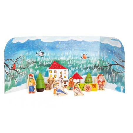 Calendrier d'avent forêt , jouets en bois