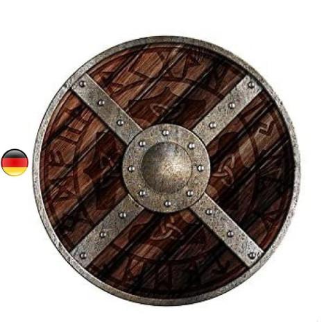 Bouclier Odin, pour jouer aux viking et chevalier, en bois de Holzspielerei allemagne