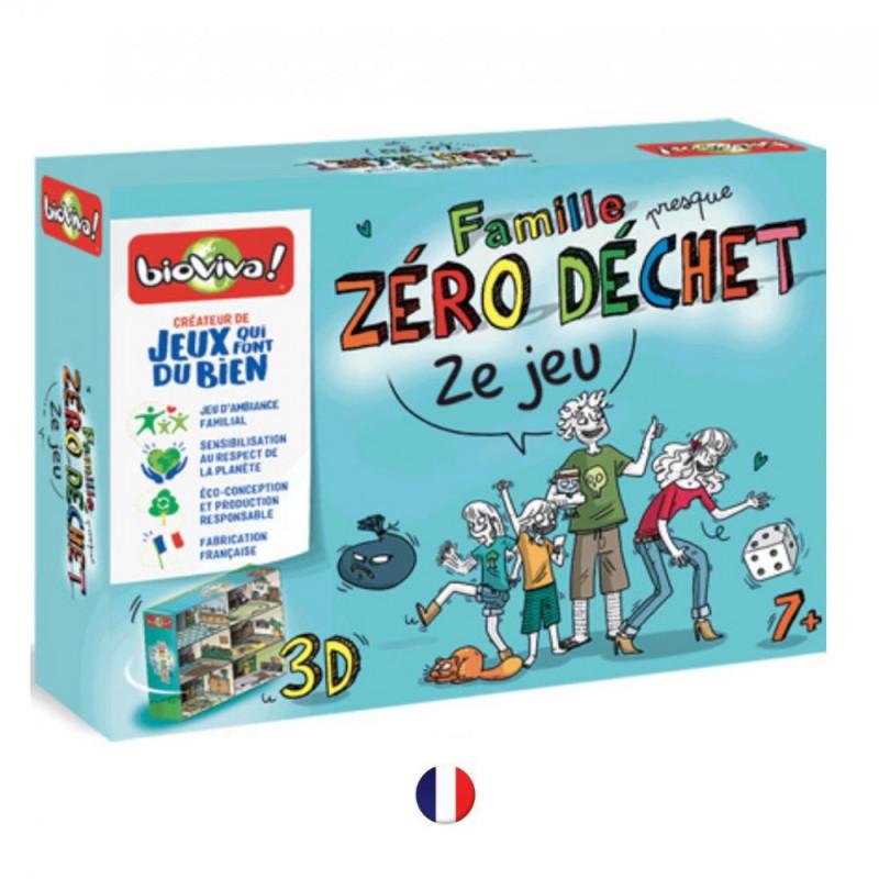 Famille (presque) Zéro Déchet - ZE JEU, jeu de sociéte ecolo, preserver l'environnement avec les enfnts, bioviva