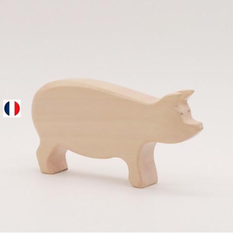 caneton jaune figurine en bois, jouet écologique et éthique France de atelier des petits bouts de bois