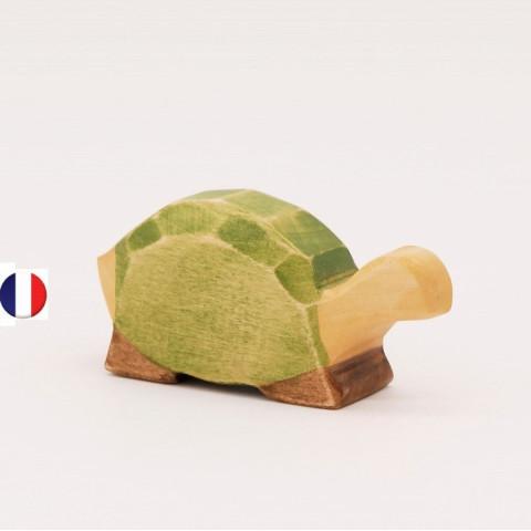 tortue figurine en bois, jouet écologique et éthique France de atelier des petits bouts de bois