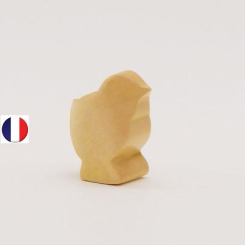 poussin figurine en bois, jouet écologique et éthique France de atelier des petits bouts de bois