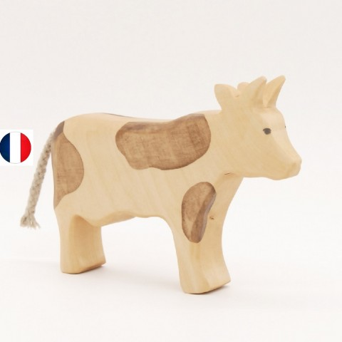 oie marchant figurine en bois, jouet écologique et éthique France de atelier des petits bouts de bois