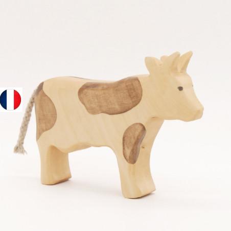Figurine vache brune