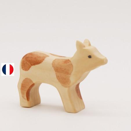 Figurine veau clair
