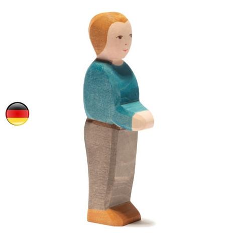 papa, vater figurine personnage en bois waldorf steiner, jouet ostheimer