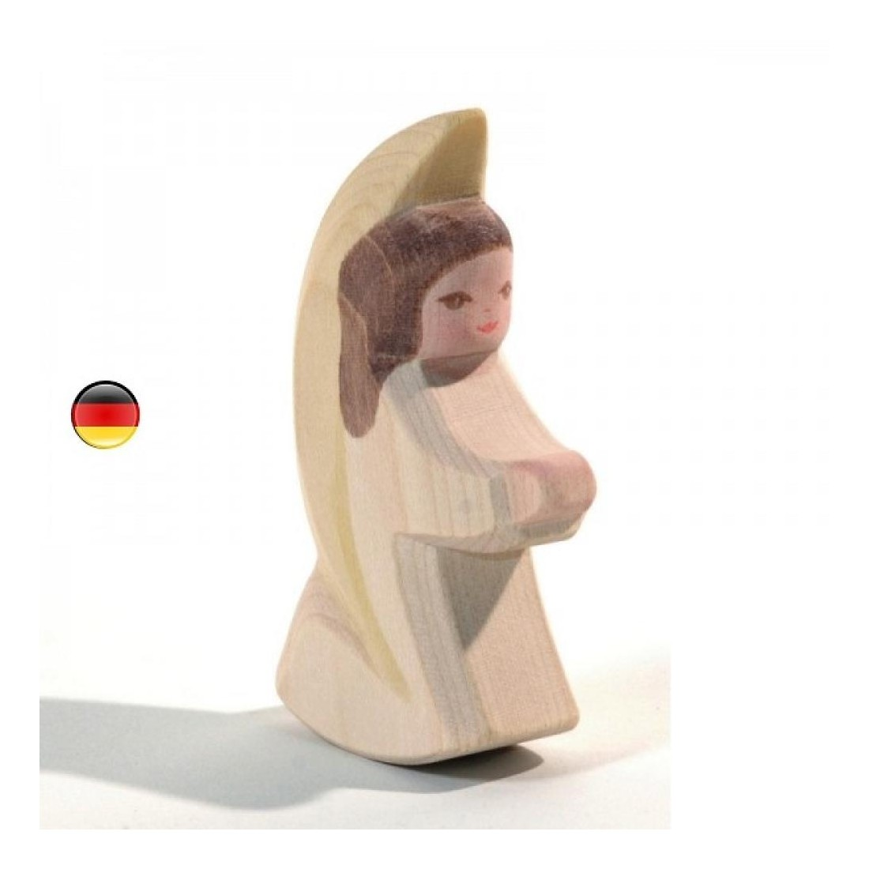 Ange à bascule blanc, figurine en bois noel Ostheimer