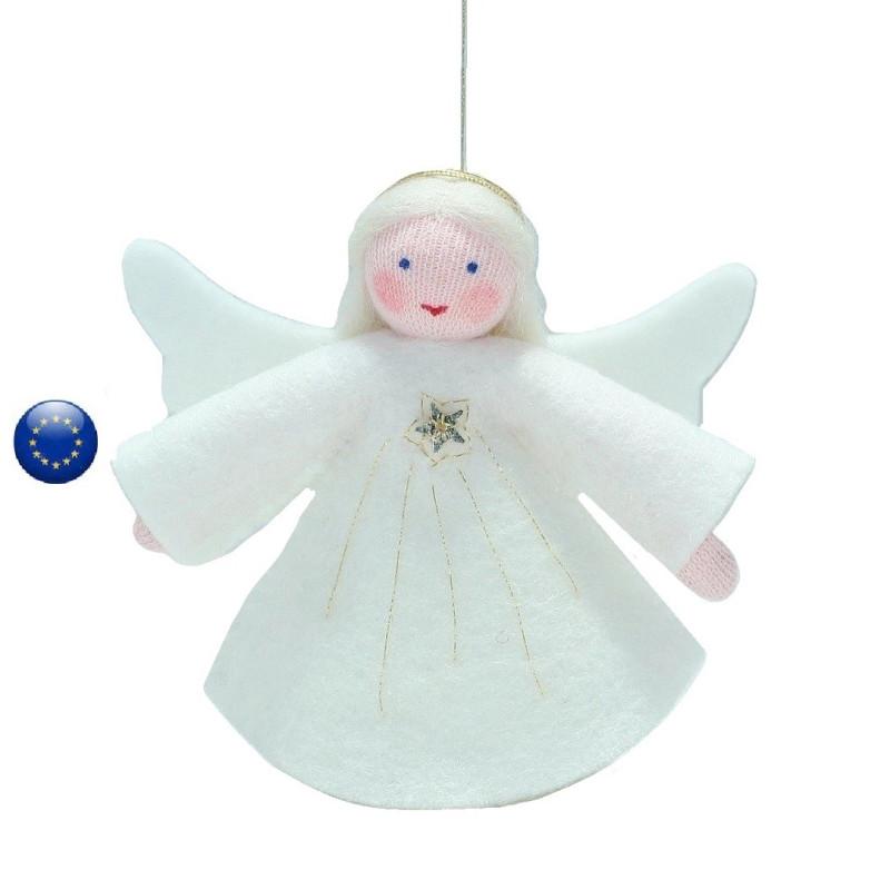 ange Poupée en feutrine à suspendre pour table de saison hiver waldorf ambrosius dolls