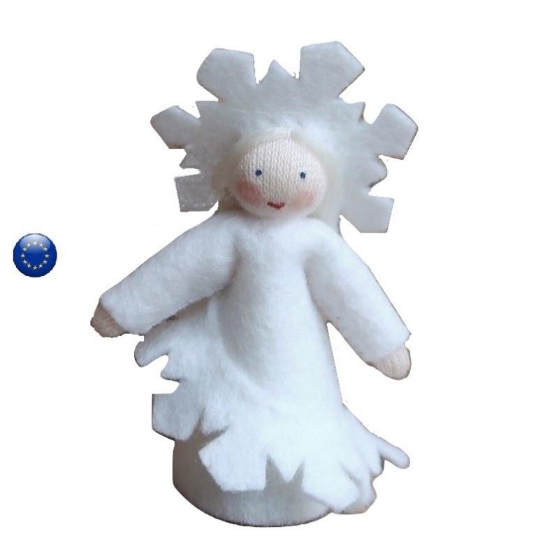 flocon de neige Poupée en feutrine pour table de saison hiver waldorf ambrosius dolls