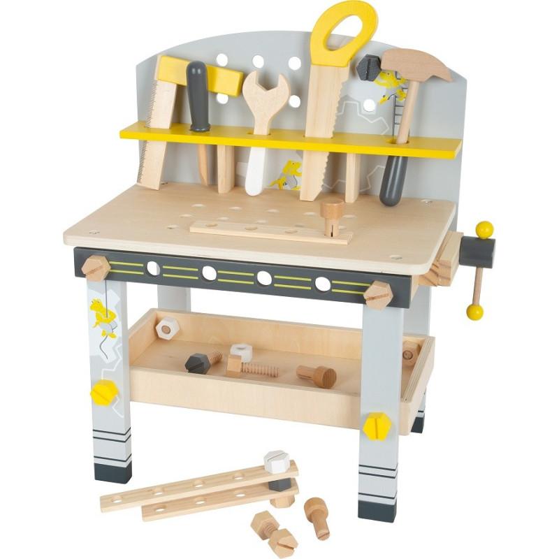Etabli compact miniwob en bois, jouet d'imitation et de motricité de small foot legler