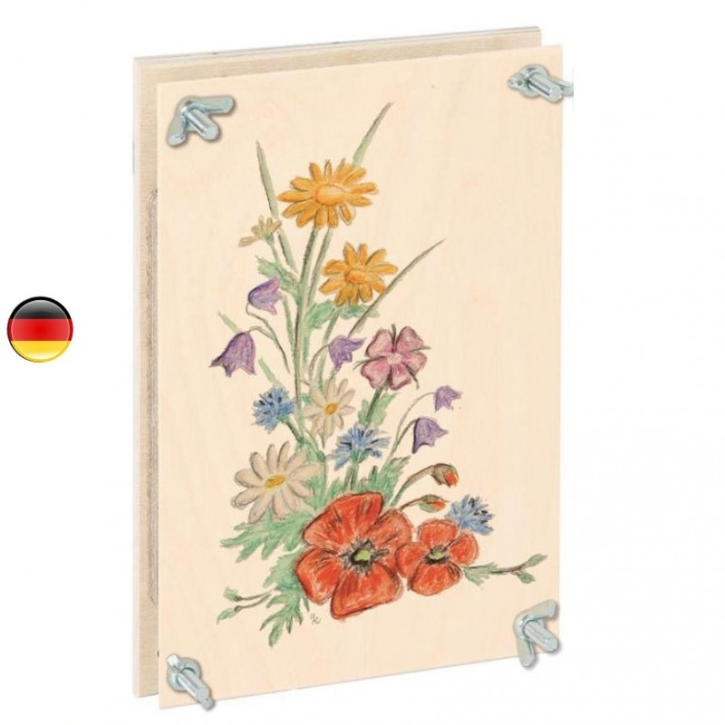 Presse Fleurs ou feuilles grand modele XL en bois, jouet waldorf steiner et montessori de bartl