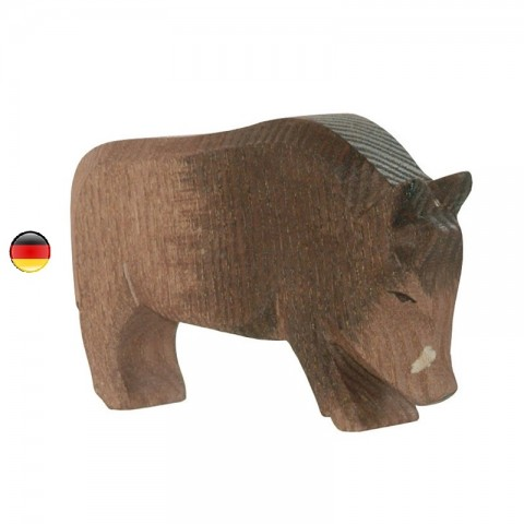 Figurine sanglier, animal, jouet en bois steiner waldorf Ostheimer