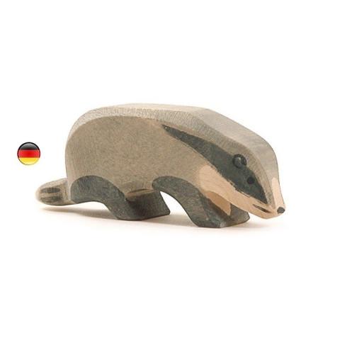 Figurine blaireau, animal, jouet en bois steiner waldorf Ostheimer