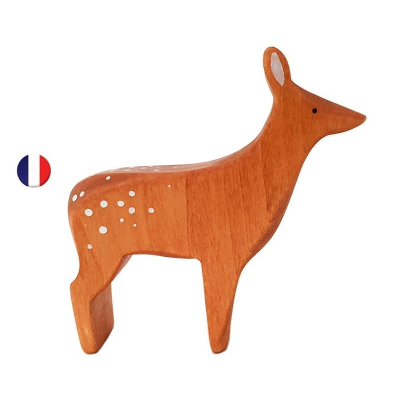 Figurine Biche, jouet en bois steiner waldorf ecologique et ethique, france de Brin d'ours