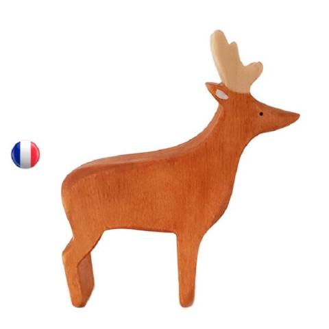 Figurine Cerf, jouet en bois steiner waldorf ecologique et ethique, france de Brin d'ours