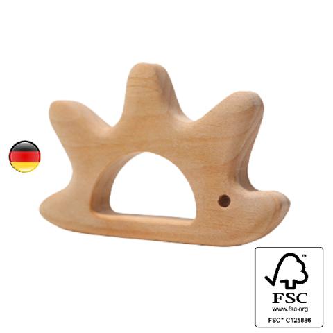 Herisson Anneau de dentition hochet, jouet en bois ecologique et ethique de Grimm's