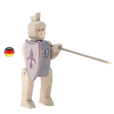 Chevalier bleu  figurine en bois pour le chateau, jouet en bois waldorf steiner de ostheimer