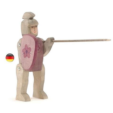 Chevalier rouge figurine en bois pour le chateau, jouet en bois waldorf steiner de ostheimer