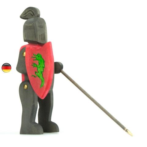 Chevalier noir figurine en bois pour le chateau, jouet en bois waldorf steiner de ostheimer