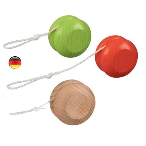 yoyo en bois naturel ou coloré, jouet ecologique traditionnel de goki