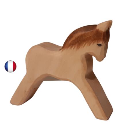 figurine poulain, jouet en bois steiner waldorf,  ecologique ethique ostheimer atelier des petits bouts de bois