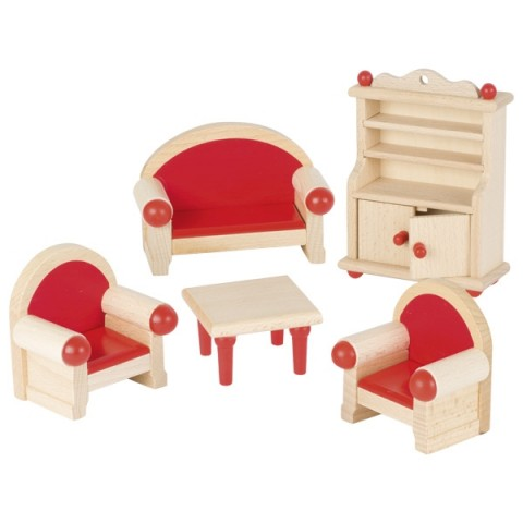 Meubles pour maison de poupée : la cuisine, jouet en bois steiner waldorf de goki