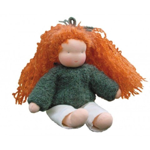 Lisette, kit confection de poupée waldorf steiner en tissu et laine ecologique, de witte engel marotte