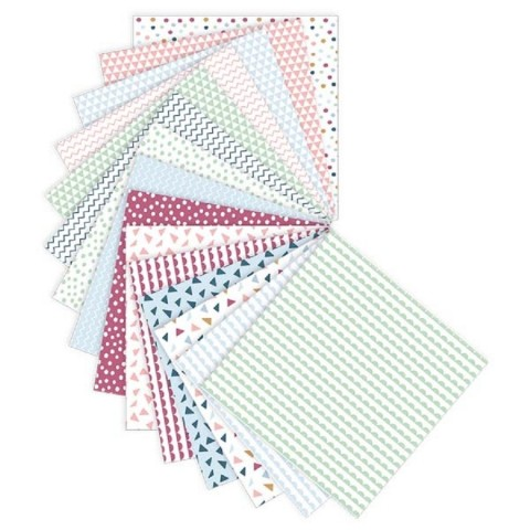 kit 30 feuilles origami pour creer pliages  en papier, de goki