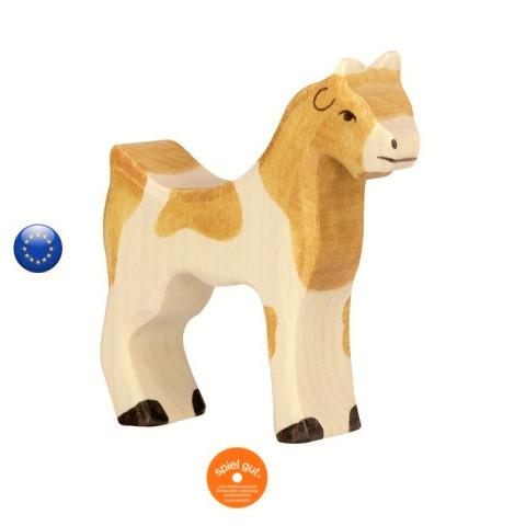Figurine chevre , animal jouet en bois steiner waldorf et montessori  Holztiger