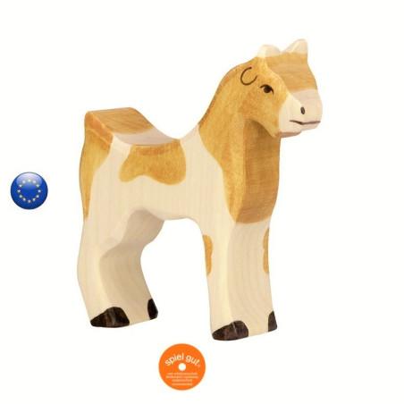 chèvre, figurine en bois  Holztiger